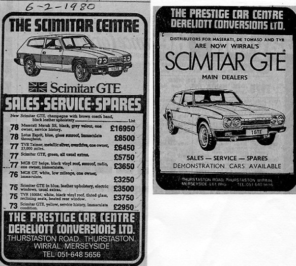 Scimitar GTE, adverts