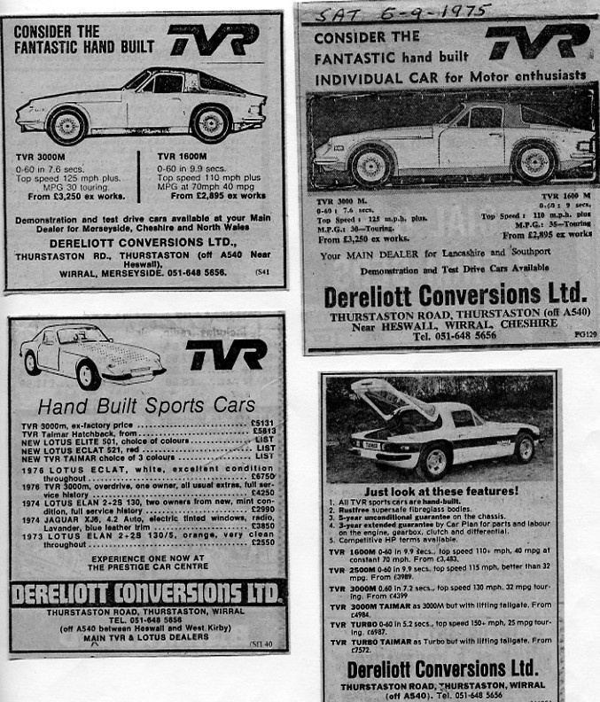 TVR Adverts