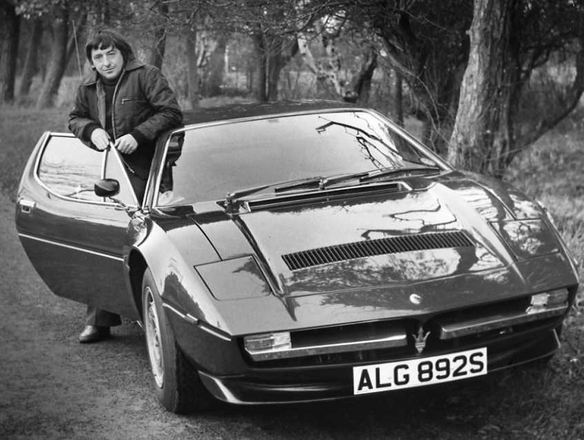 John & Maserati Merak SS outside Thurstaston Wirral branch
